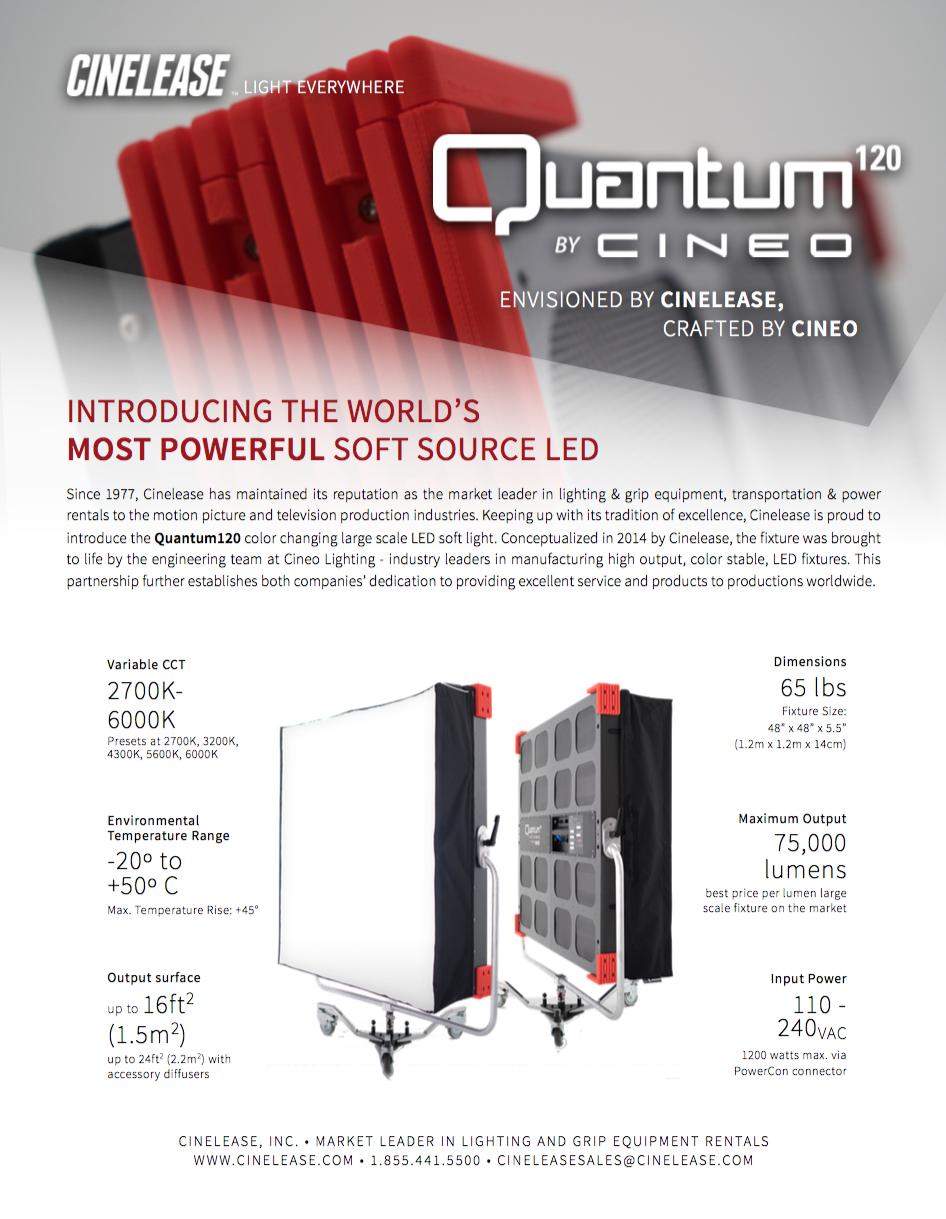 Quantum120 Cut Sheet